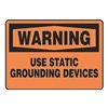 Accuform MELC310VA Warning Sign, 10 x 14In, BK/ORN, AL, ENG