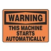 Accuform MEQW02VA Warning Sign, 10 x 14In, BK/ORN, AL, ENG