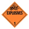 Stranco Inc DOTP-0102-PS DOT Placard, Explosive, Rigid Polystyrene