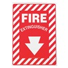 Accuform MFXG417VP Fire Extinguisher Sign, 10 x 7In, WHT/R