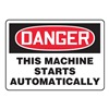Accuform MEQM153VA Danger Sign, 7 x 10In, R and BK/WHT, AL, ENG