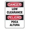 Accuform Signs MSEC001VA Danger Sign, 14 x 10In, R and BK/WHT, AL