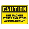 Accuform Signs MEQC06VP Caution Sign, 10 x 14In, BK/YEL, PLSTC, ENG