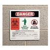 Prinzing 596-17 Danger Sign, 10 x 10In, Self-ADH Vinyl, HV