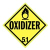 Stranco Inc DOTP-0045-PS DOT Placard, Oxidizer 5.1, Rigid Styrene