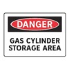 Electromark S155-FF Danger Sign, 7 x 10In, R and BK/WHT, ENG