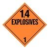 Stranco Inc DOTP-0100-T10 DOT Placard, 1.4 Explosive, Tagboard, PK10