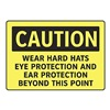 Electromark S132-FF Caution Sign, 7 x 10In, BK/YEL, ENG, Text