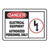 Accuform MELC027VA Danger Sign, 10 x 14In, R and BK/WHT, AL