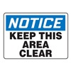 Accuform MGNFN12BVS Notice Sign, 7 x 10In, BL and BK/WHT, ENG