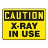 Accuform MRAD612VS Caution Radiation Sign, 10 x 14In, BK/YEL