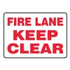 Accuform MVHR498VA Fire Lane Sign, 10 x 14In, R/WHT, AL, ENG