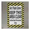 Shieldmark AFZ2426 Floor Arc Flash Zone Sign, 24 x 36 In.