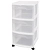Sterilite 28308002 3Drawer Cart, Pack of 2
