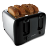 Hamilton Beach Brands Inc 24608 BLK/CHR 4 Slice Toaster