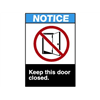 Brady 45106 Notice Sign, 14 x 10In, R, BL and BK/WHT