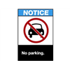 Brady 45053 Notice Sign, 10 x 7In, R, BL and BK/WHT