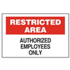 Brady 70220 Admittance Sign, 10 x 14In, BK and R/WHT