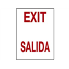 Brady 38797 Exit Sign, 14 x 10In, R/WHT, Exit/Salida