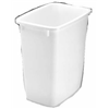 Rubbermaid 2805-00WHT 21QT White Wastebasket