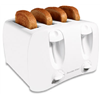 Hamilton Beach Brands Inc 24605 4Slice WHT Wide Toaster
