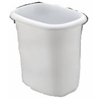 Rubbermaid 2953-00 WHT 6QT Vanity Wastebasket