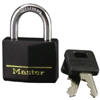 "Master Lock 141D 1-9/16"" Black Brass Padlock"
