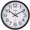 "Geneva/Advance Clock Co 3938GG 13.5""BLK CommWall Clock"