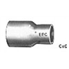 Elkhart Products 30696 1/2x3/8 COP Coupling