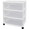 Sterilite 29308001 3Drawer Wide Cart