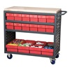 Akro-Mils MA3618CASTRED Louvered Cart, 36 In. H, 18 In. W, 37 In. L