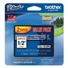 Brother TZe1312PK Label Tape, Black/Clear, 26-1/5 ft. L, PK 2