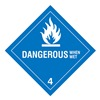 Approved Vendor HMSL-0044-P500 DOT Label, Dangerous When Wet, Paper, PK500