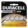 Duracell DL2016B4 Battery, 2016, Lithium, 3V, PK4