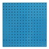Approved Vendor 5TPA8 Square Hole Pegboard, 24x24, Blue, PK2