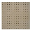 Approved Vendor 5TPC4 Square Hole Pegboard, 24x24, Tan, PK2