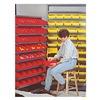 Quantum QSB105RD Shelf Bin, 23-5/8L x 4-1/8W, Red