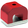 Master Magnetics 07270 2OZ RED Horsesh Magnet