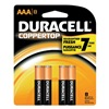 Duracell MN2400B8Z Battery, Alkaline, AAA, PK 8