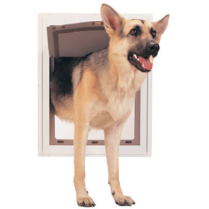 Johnson Pet Door L 2 http://www.drillspot.com/products/288648/radio_systems_johnson_pet_dr_ppa00-10862__extra_large_08mm_pet-door
