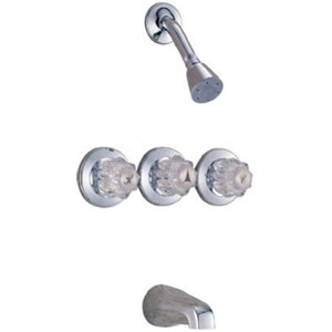 delta faucet p9831 chrome 3 handle tub shower faucet be the first to