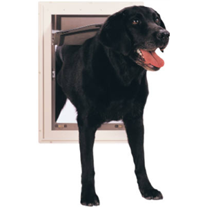 Johnson Pet Door L 2 http://www.drillspot.com/products/282435/radio_systems_johnson_pet_dr_ppa00-10861_lg_pet_door