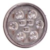 Maxxima M42347-KIT Back Up Lamp, 9 LED, Round, 12.8V