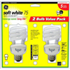 G E Lighting 74201 GE 2PK 20W SW Spir Bulb