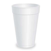 Dart 16J16 Cold/Hot Cups, 16 Oz, White, Pk1000