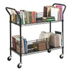 Safco 5333BL Wire Book Cart, Steel, Black