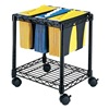 Safco 5228BL Wire File Cart w/Tubs