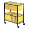Safco 5278BL Rolling File Cart, 2-Tier