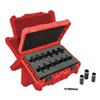 Milwaukee 49-66-4301 Metric Impact Socket Set, 1/4 In, 12 Pc