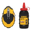 Dewalt DWHT47144 Chalk Line Reel, 100 ft, ABS, w/Red Chalk